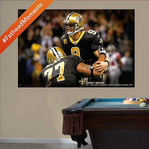 Drew Brees Passing Record Mural Fathead Wall Decal